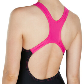 speedo Gala Logo Medalist Swimsuit Damer, black/electric pink
